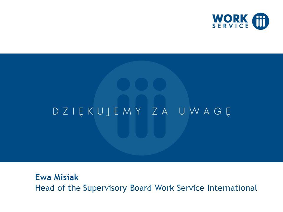 Ewa Misiak Head of the Supervisory Board Work Service International