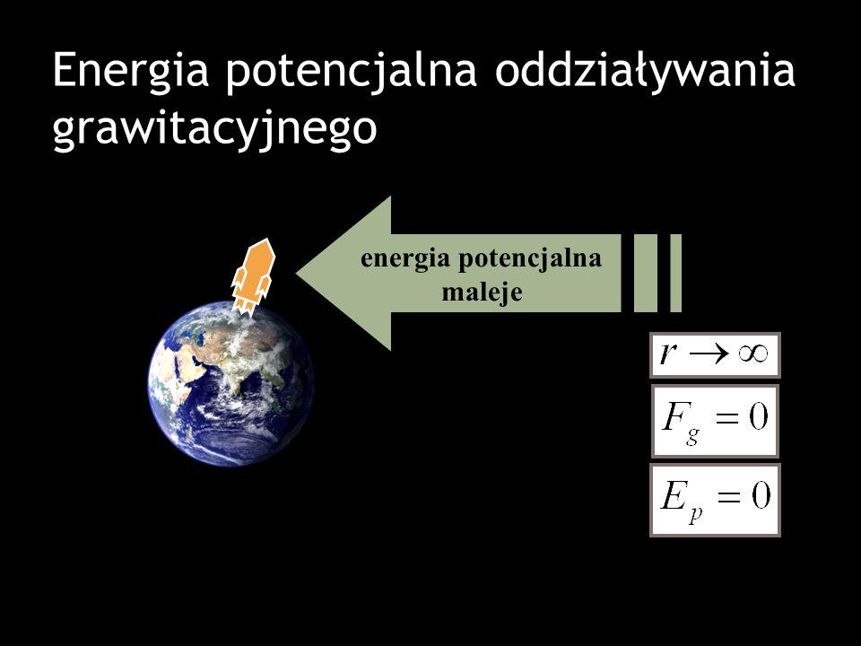 Energia potencjalna oddziaływania grawitacyjnego energia potencjalna maleje