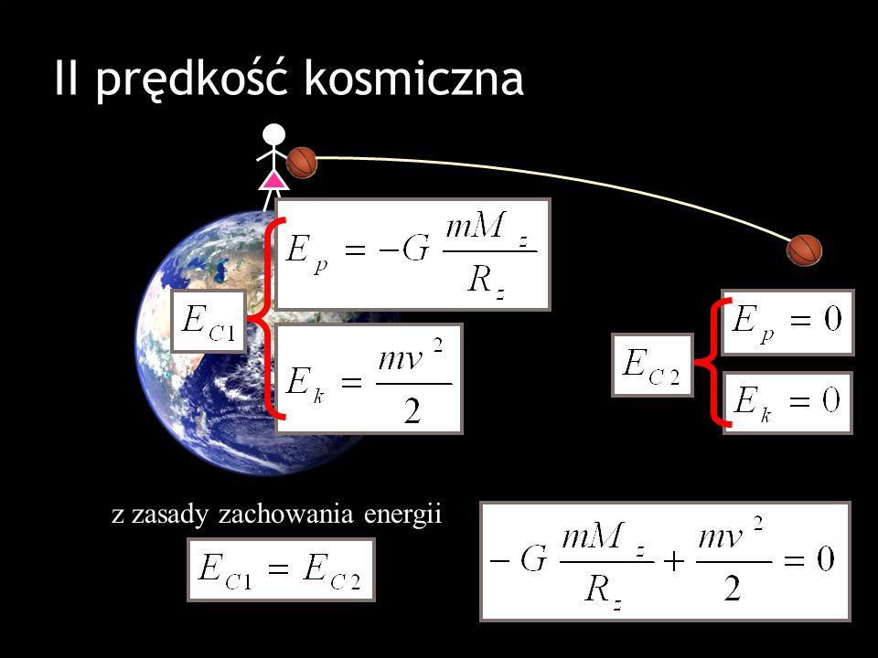 II prędkość kosmiczna z zasady zachowania energii