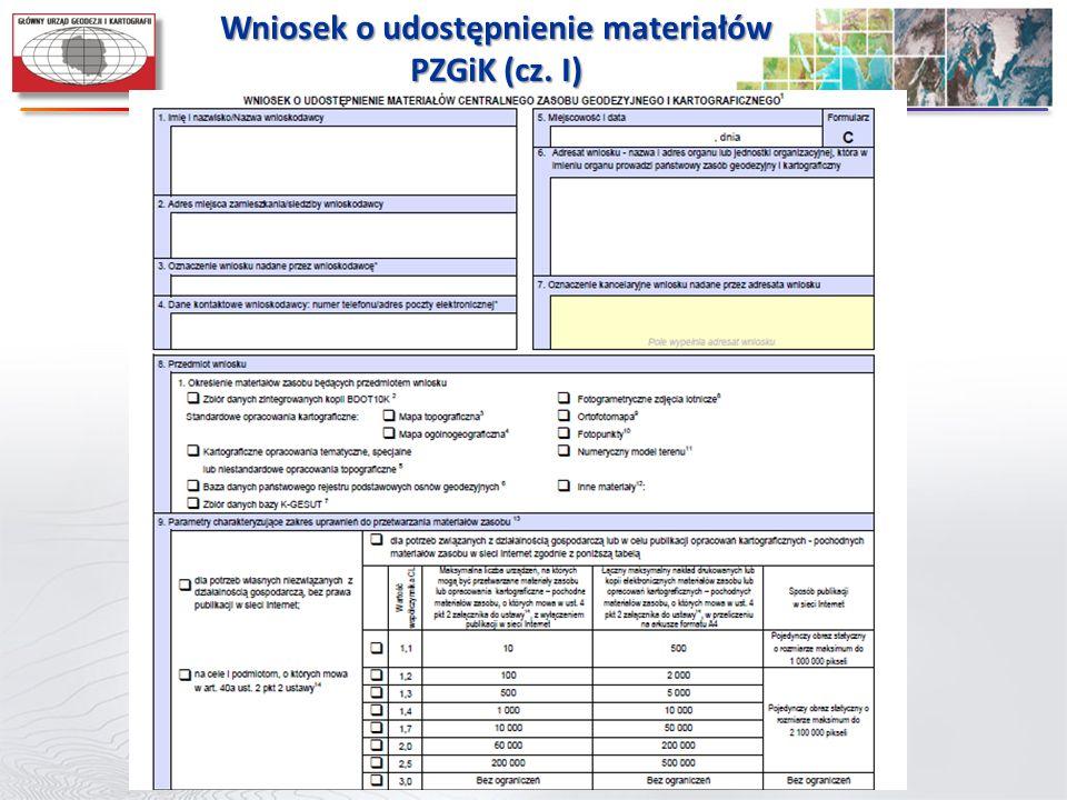 Wniosek o udostępnienie materiałów PZGiK (cz. I)