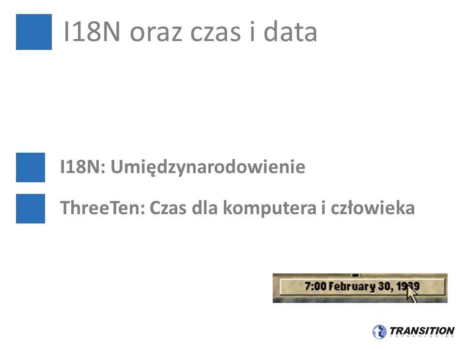 I18N oraz czas i data I18N: Umiędzynarodowienie ThreeTen: Czas dla komputera i człowieka