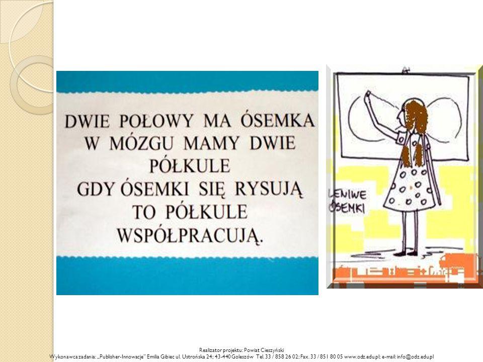"""Realizator projektu: Powiat Cieszyński Wykonawca zadania: """"Publisher-Innowacje"""" Emilia Gibiec ul. Ustrońska 24; 43-440 Goleszów Tel. 33 / 858 26 02; F"""