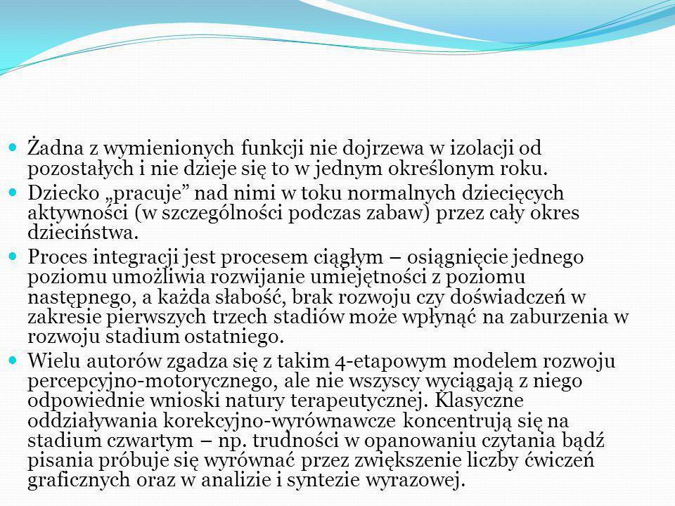 ZDANIEM J.AYRES: Dobrze zaplanowana i poprzedzona diagnozą SI terapia musi zawierać intensywną stymulację czuciową, proprioceptywną i przedsionkową.