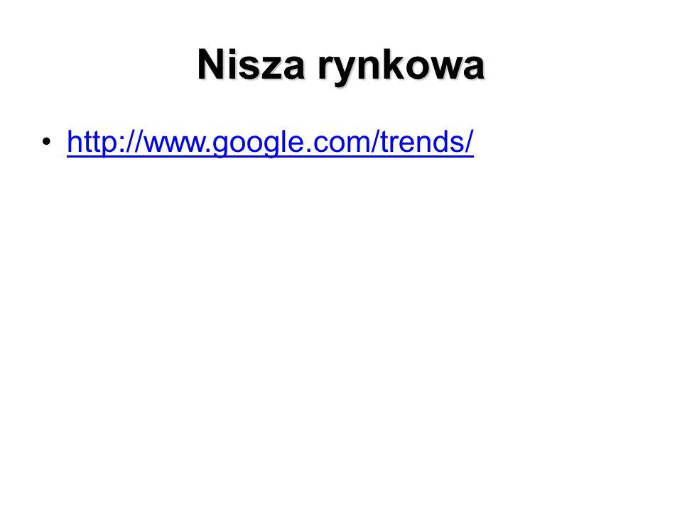 Nisza rynkowa http://www.google.com/trends/