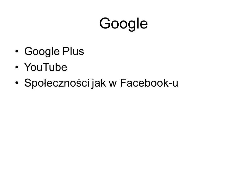 Google Google Plus YouTube Społeczności jak w Facebook-u