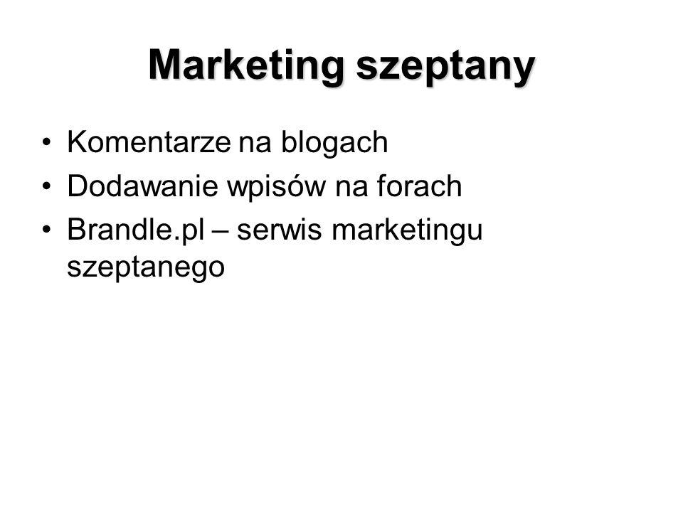 Marketing szeptany Komentarze na blogach Dodawanie wpisów na forach Brandle.pl – serwis marketingu szeptanego