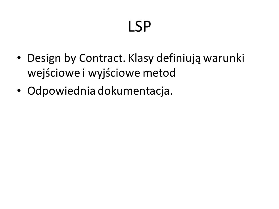 LSP Design by Contract.