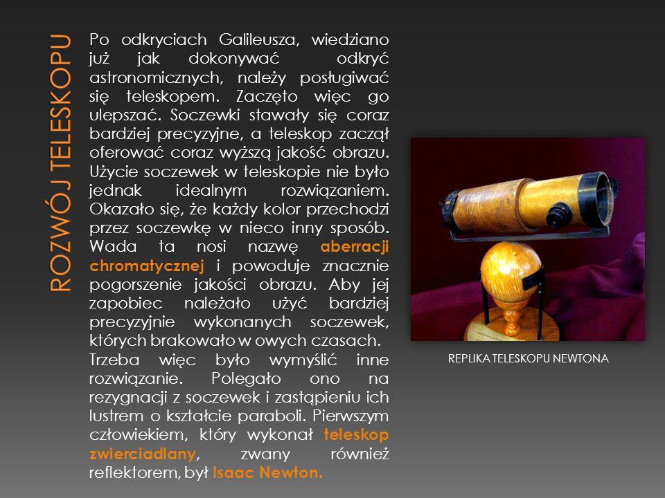 Po odkryciach Galileusza, wiedziano już jak dokonywać odkryć astronomicznych, należy posługiwać się teleskopem. Zaczęto więc go ulepszać. Soczewki sta