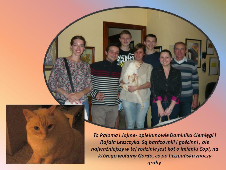 To Paloma i Jajme- opiekunowie Dominika Ciemięgi i Rafała Leszczyka. Są bardzo mili i gościnni, ale najważniejszy w tej rodzinie jest kot o imieniu Co