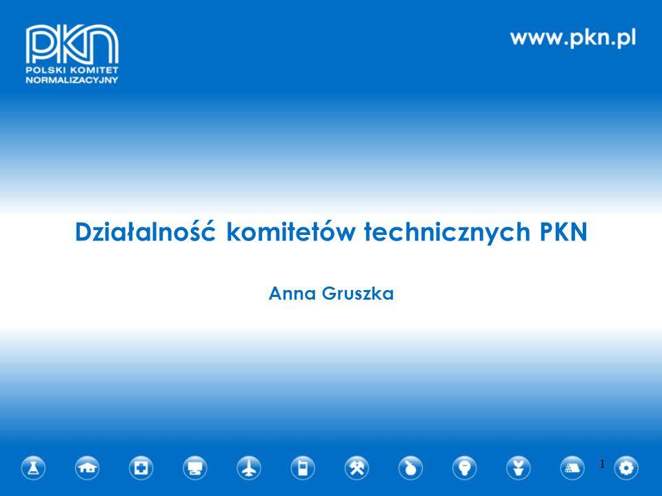 Działalność komitetów technicznych PKN Anna Gruszka 1