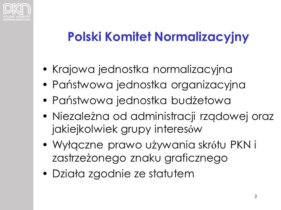 Polski Komitet Normalizacyjny Krajowa jednostka normalizacyjna Państwowa jednostka organizacyjna Państwowa jednostka budżetowa Niezależna od administr