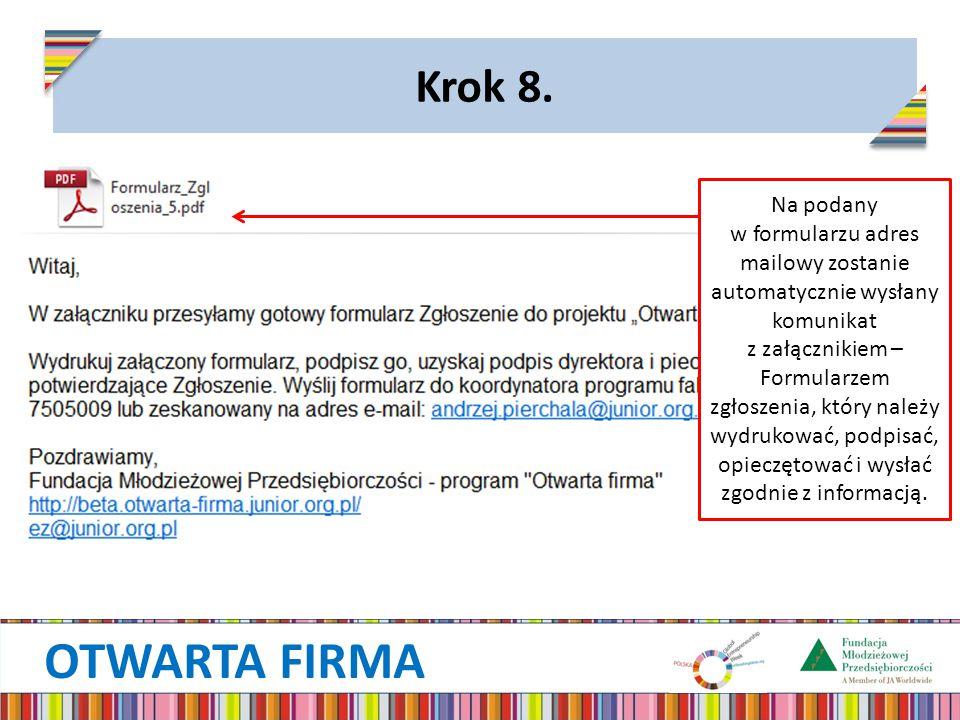 OTWARTA FIRMA Krok 8.