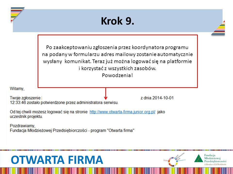 OTWARTA FIRMA Krok 9.