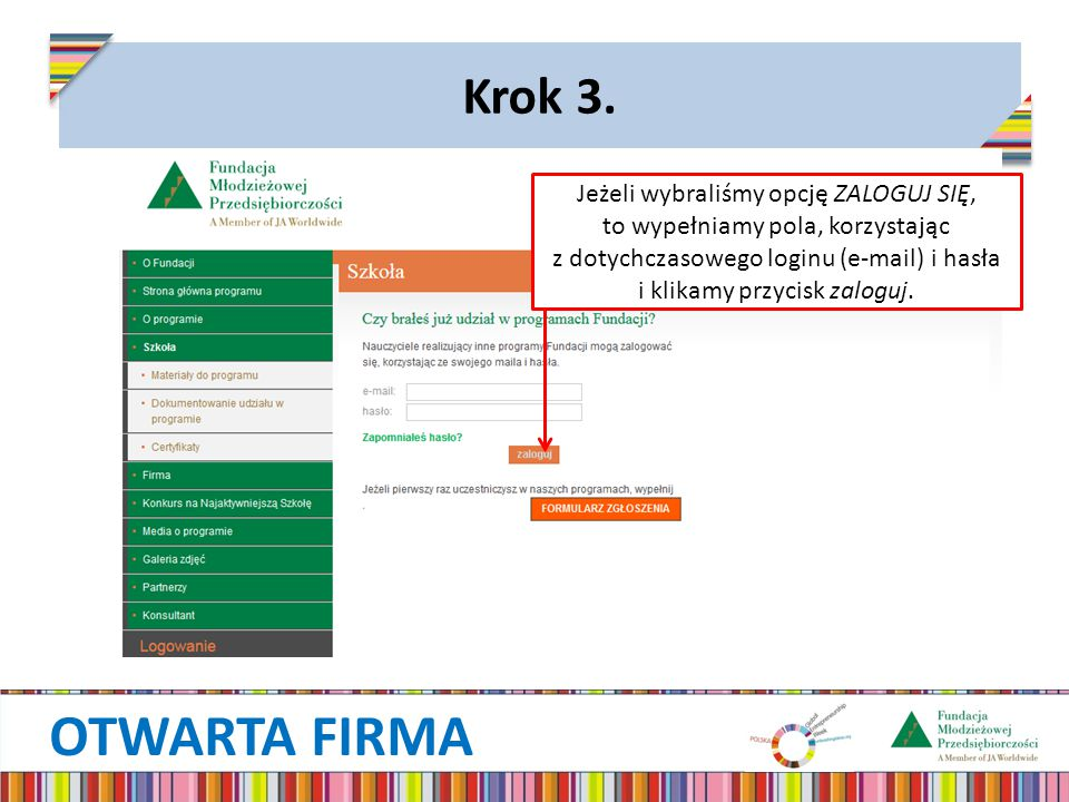 OTWARTA FIRMA Krok 3.