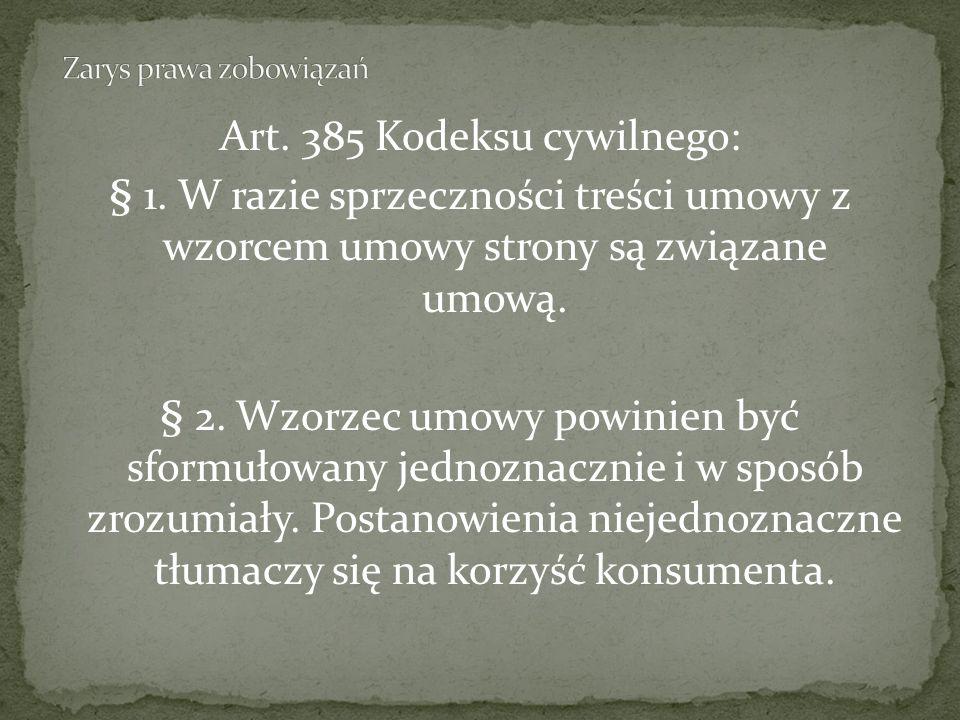 Art.385 Kodeksu cywilnego: § 1.