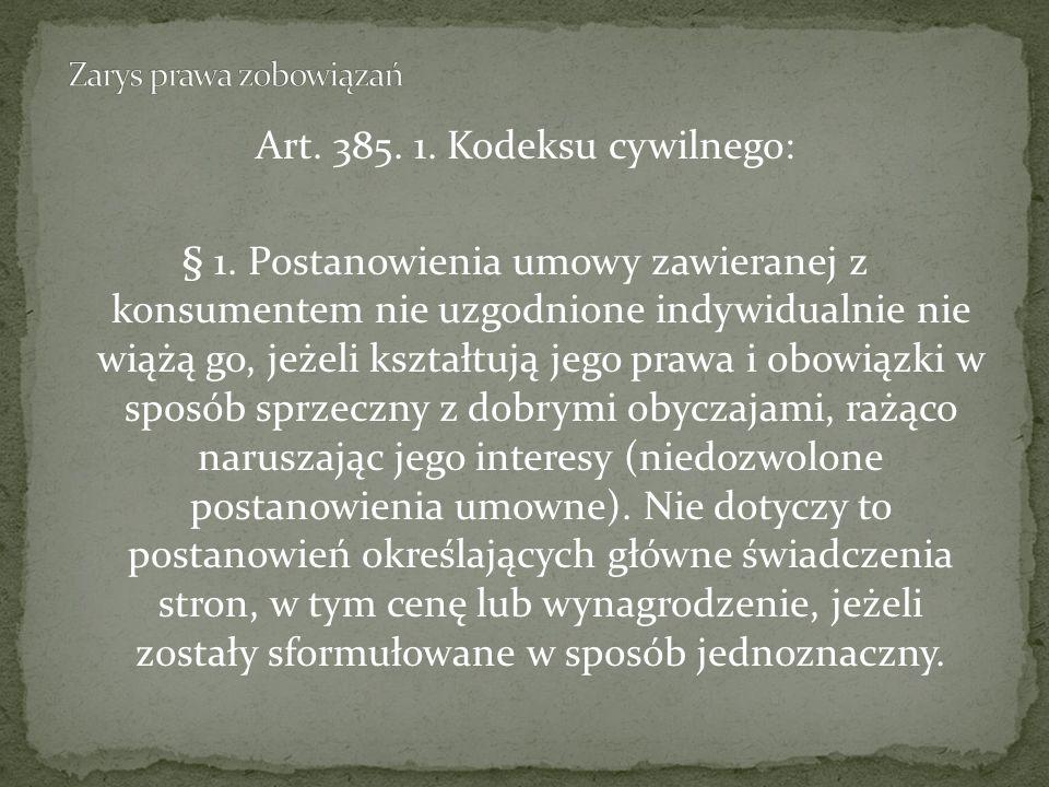 Art.385. 1. Kodeksu cywilnego: § 1.