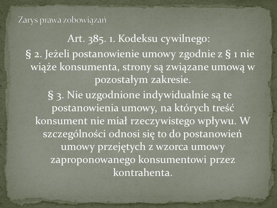 Art.385. 1. Kodeksu cywilnego: § 2.