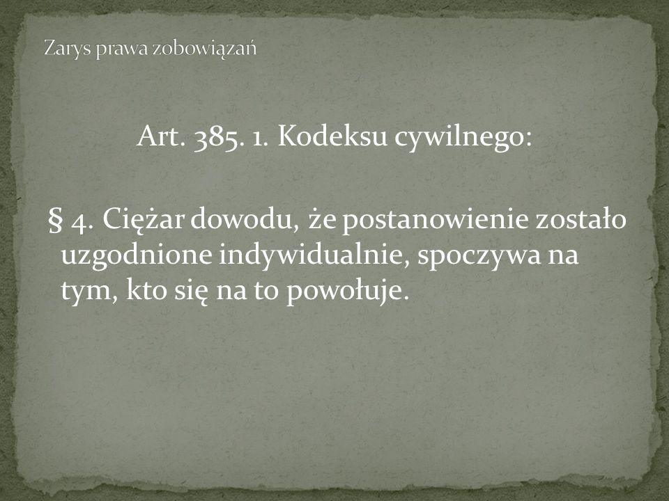 Art.385. 1. Kodeksu cywilnego: § 4.