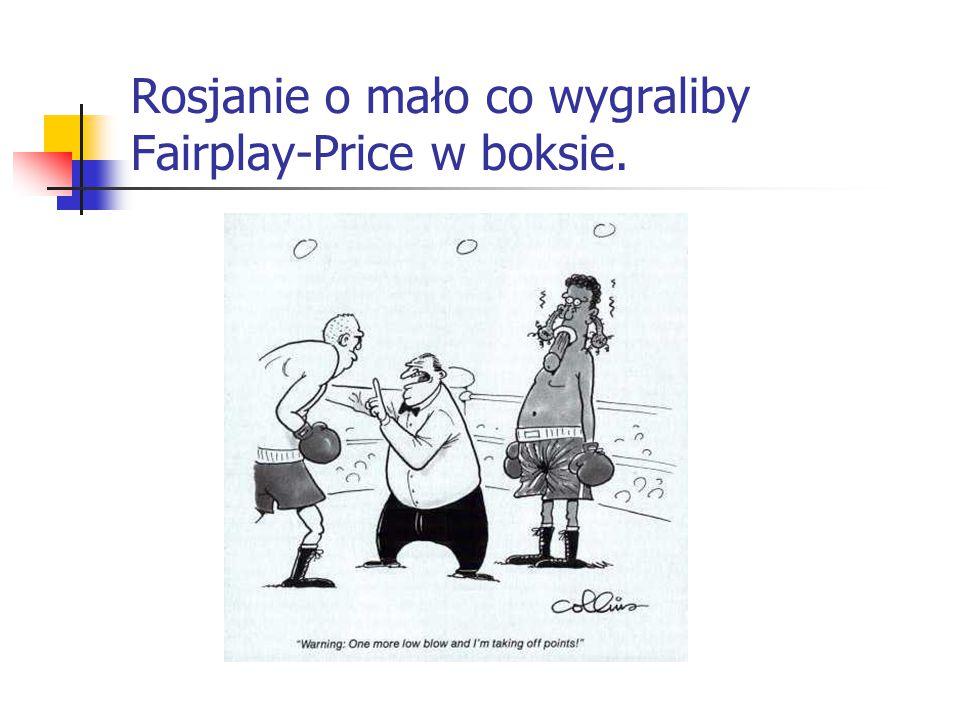 Rosjanie o mało co wygraliby Fairplay-Price w boksie.