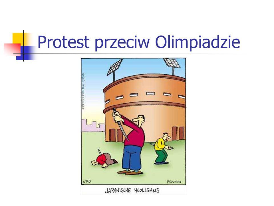 Protest przeciw Olimpiadzie