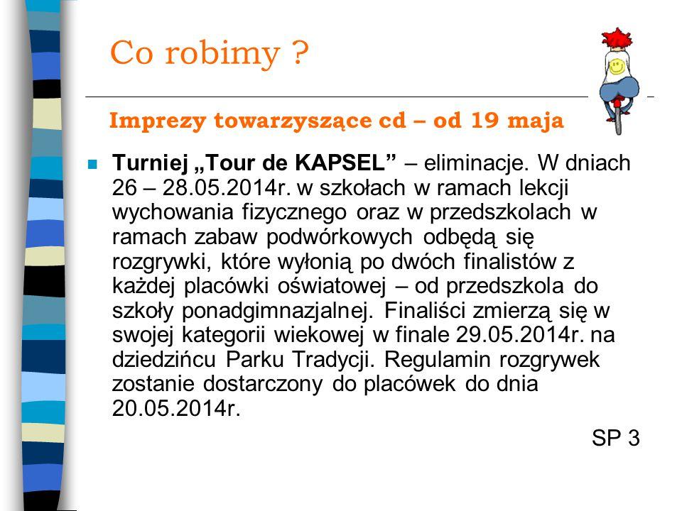 "Co robimy . n Turniej ""Tour de KAPSEL – eliminacje."