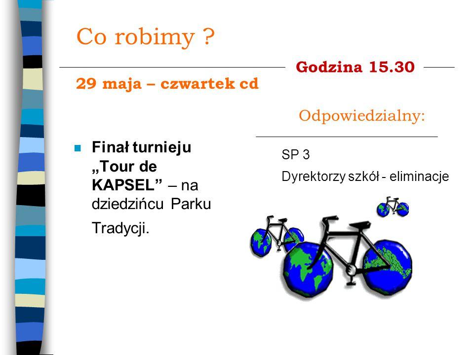 """Co robimy . n Finał turnieju """"Tour de KAPSEL – na dziedzińcu Parku Tradycji."""