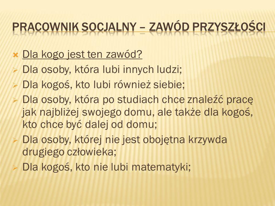  Jakie cechy powinien posiadać pracownik socjalny.