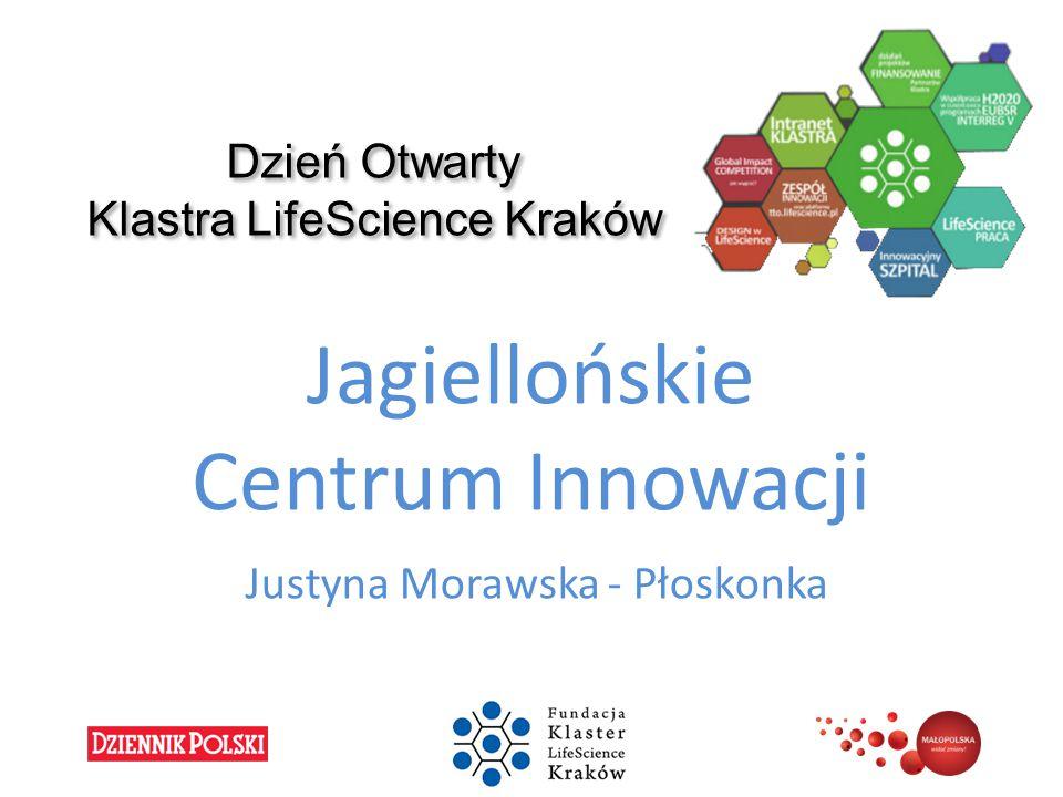 Dzień Otwarty Klastra LifeScience Kraków Jagiellońskie Centrum Innowacji Justyna Morawska - Płoskonka