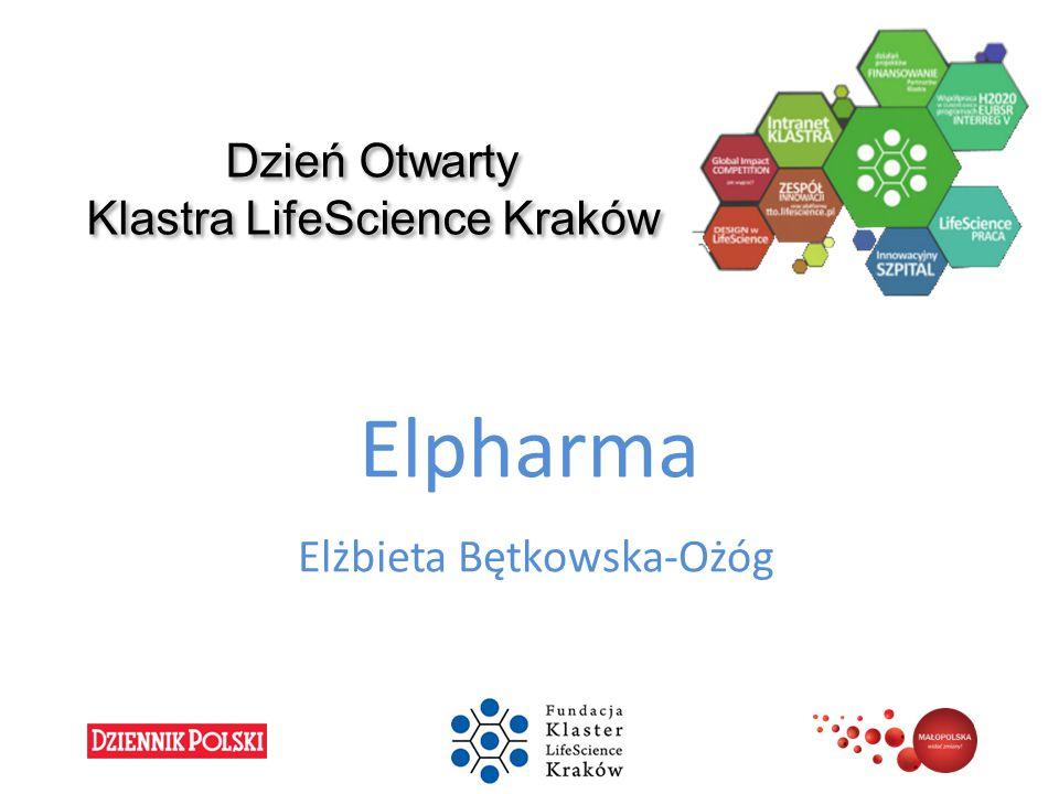 Dzień Otwarty Klastra LifeScience Kraków Elpharma Elżbieta Bętkowska-Ożóg