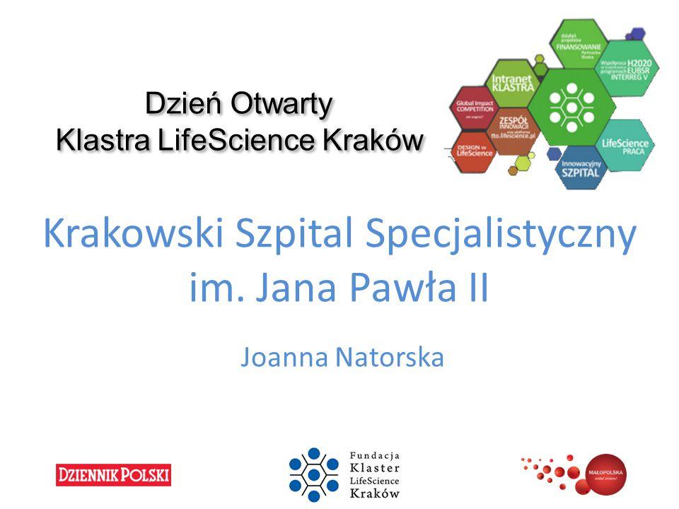 Dzień Otwarty Klastra LifeScience Kraków Krakowski Szpital Specjalistyczny im. Jana Pawła II Joanna Natorska