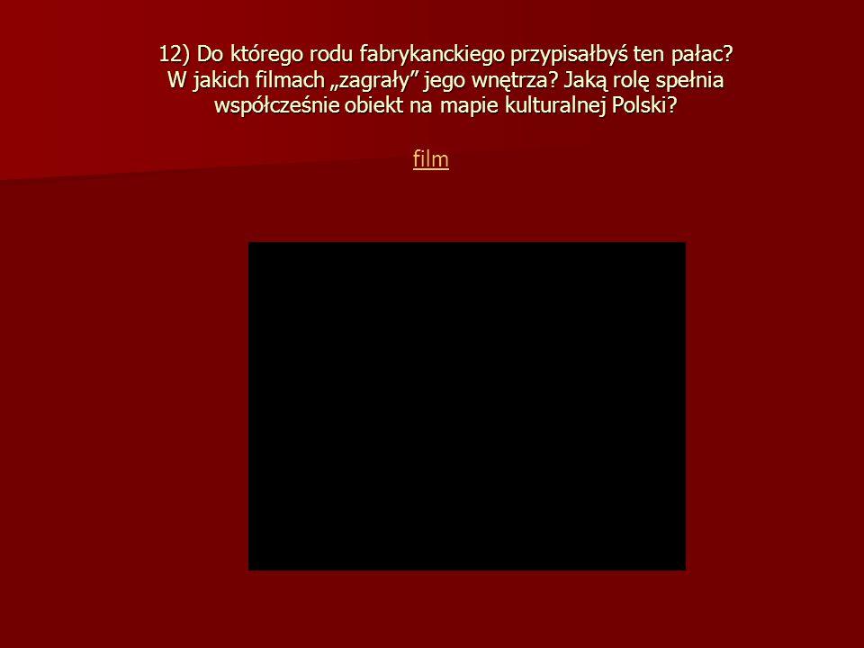 12) Do którego rodu fabrykanckiego przypisałbyś ten pałac.