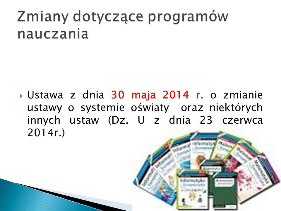  Ustawa z dnia 30 maja 2014 r.