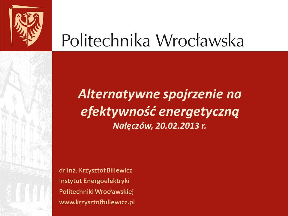 Alternatywne spojrzenie na efektywność energetyczną Nałęczów, 20.02.2013 r.