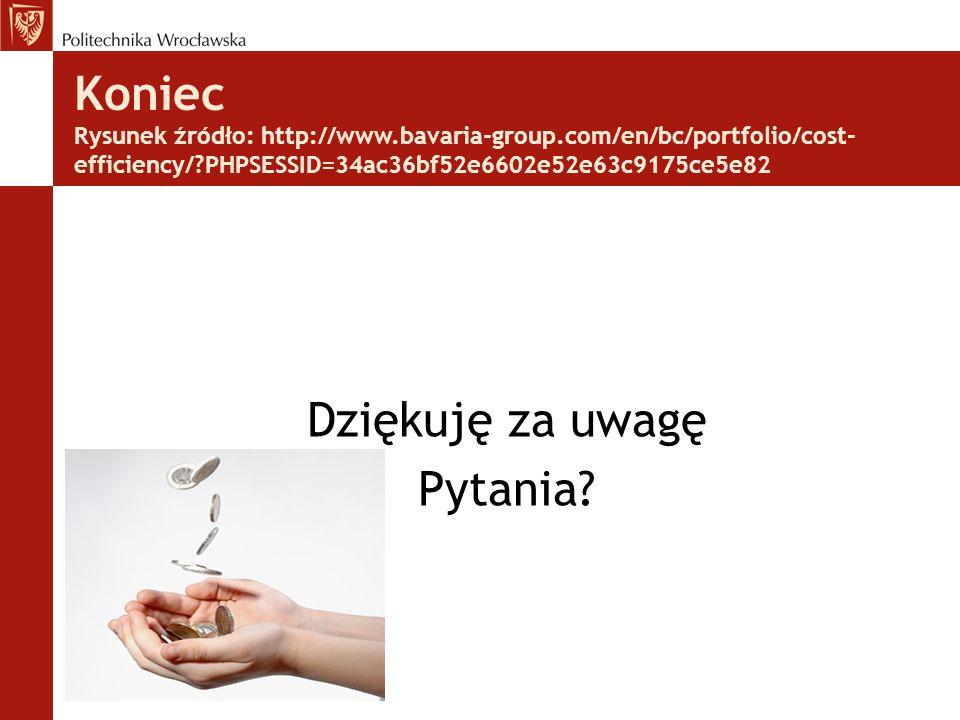 Koniec Rysunek źródło: http://www.bavaria-group.com/en/bc/portfolio/cost- efficiency/ PHPSESSID=34ac36bf52e6602e52e63c9175ce5e82 Dziękuję za uwagę Pytania