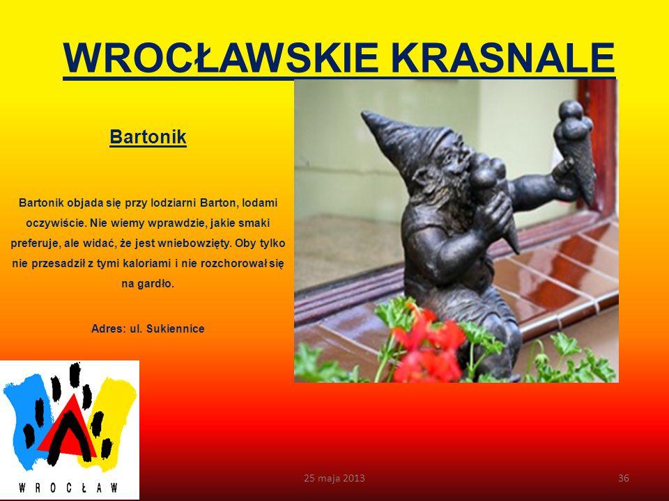 WROCŁAWSKIE KRASNALE Żaczek Żaczek, co oczywiste, za swoje lokum wybrał szkołę.