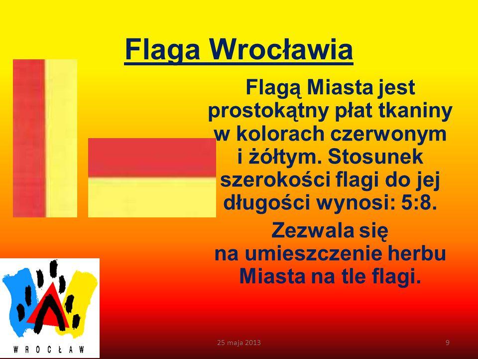 Logo Wrocławia W 1996 roku został rozstrzygnięty konkurs na logo Wrocławia. Autorem zwycięskiego projektu jest Paweł Pawlak. Wschodnia elewacja ratusz