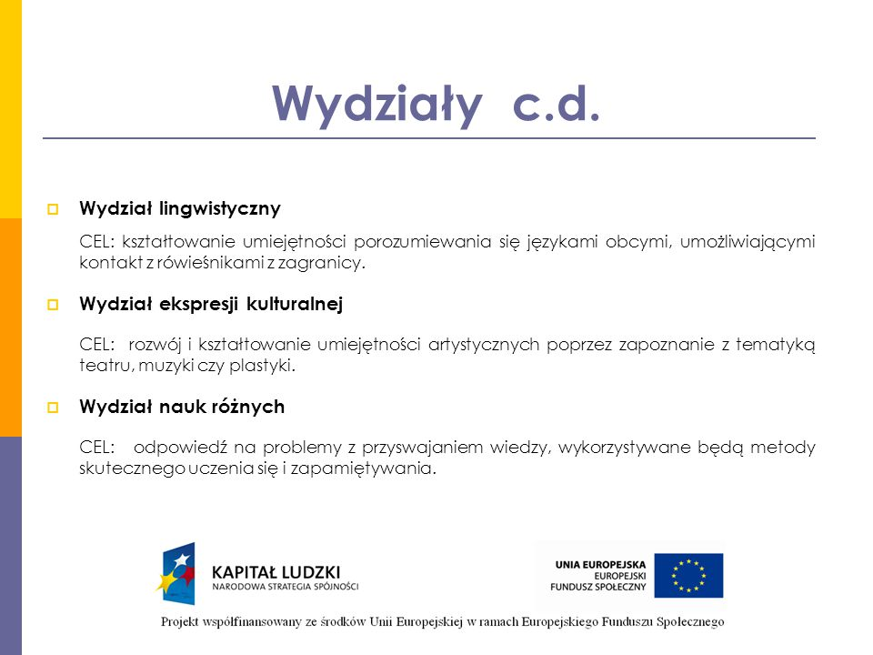 Kadra projektu Osoby zaangażowane w realizację projektu:  Koordynator projektu – mgr Justyna Rudner (UM)  Asystent koordynatora – mgr Aleksandra Pawłowska (UM)  Specjalista ds.
