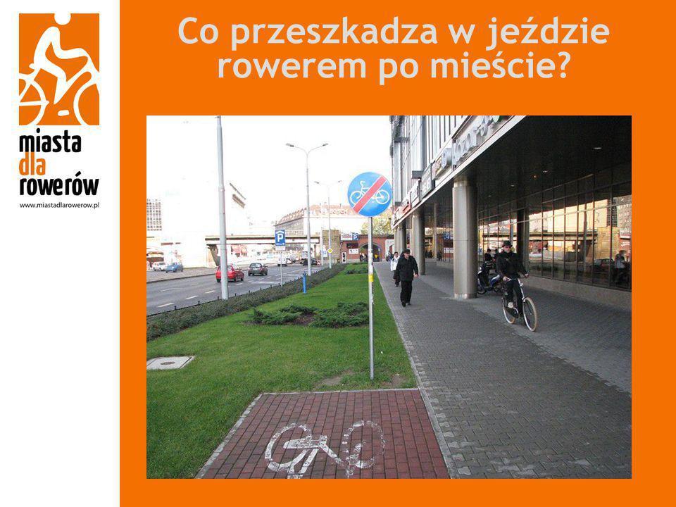 Co przeszkadza w jeździe rowerem po mieście?