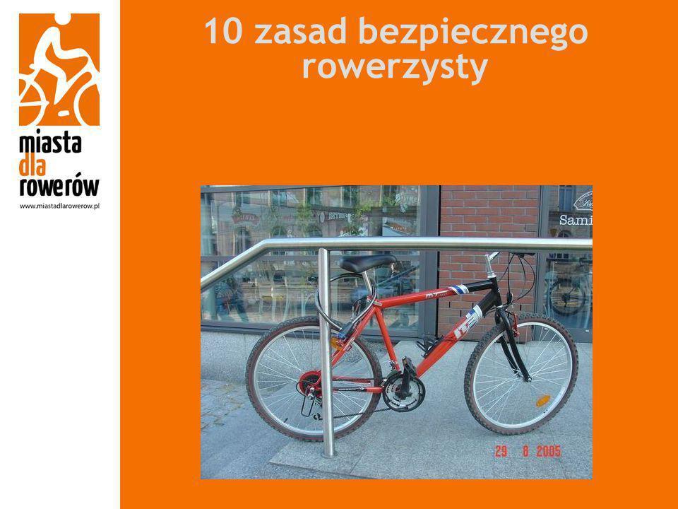 10 zasad bezpiecznego rowerzysty