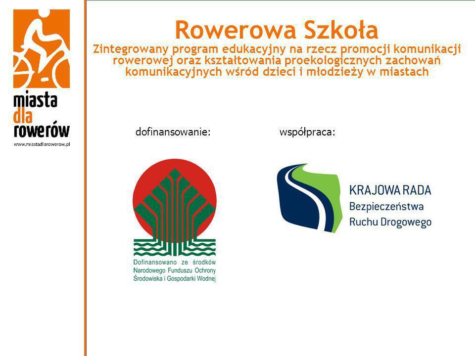 współpraca: Rowerowa Szkoła Zintegrowany program edukacyjny na rzecz promocji komunikacji rowerowej oraz kształtowania proekologicznych zachowań komun