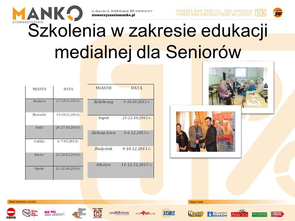 Szkolenia w zakresie edukacji medialnej dla Seniorów