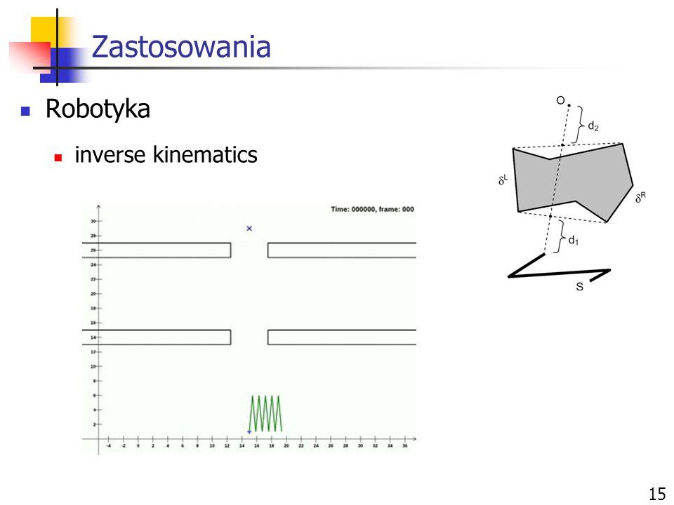 Zastosowania Robotyka inverse kinematics 15