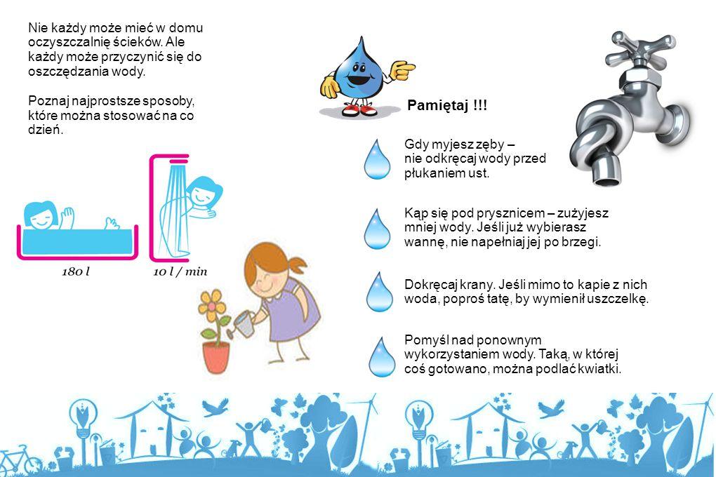 Człowiek wykorzystuj e wodę w życiu codziennym......ogromnej ilości wody wymagają też zakłady przemysłow e......ludzie wymyślili specjalne urządzenia,
