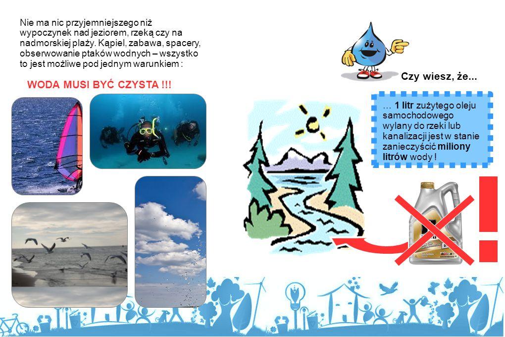 Wydaje się, że wody na Ziemi jest bardzo dużo, że jej zasobów nie można wyczerpać. Woda wypełnia oceany i morze, z zamarzniętej wody zbudowane są wiel