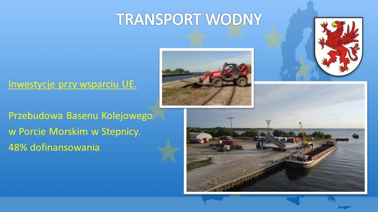 Inwestycje przy wsparciu UE.Przebudowa Basenu Kolejowego w Porcie Morskim w Stepnicy.