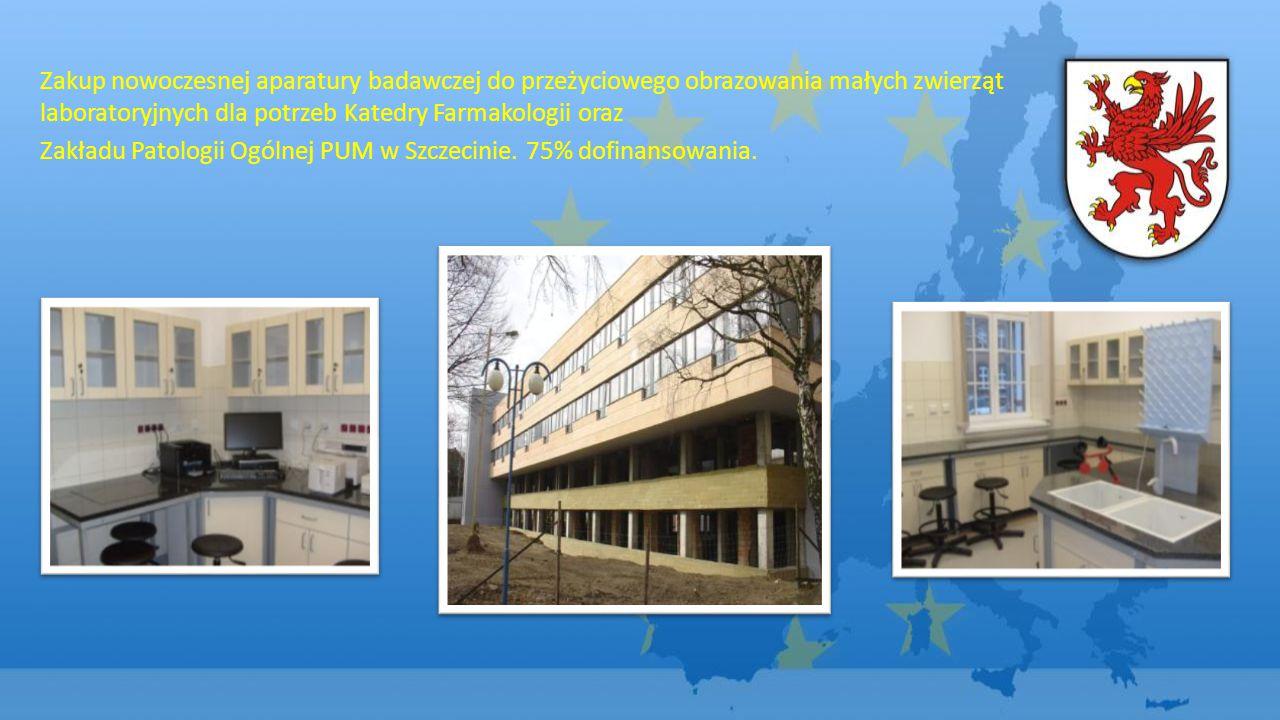 Zakup nowoczesnej aparatury badawczej do przeżyciowego obrazowania małych zwierząt laboratoryjnych dla potrzeb Katedry Farmakologii oraz Zakładu Patologii Ogólnej PUM w Szczecinie.