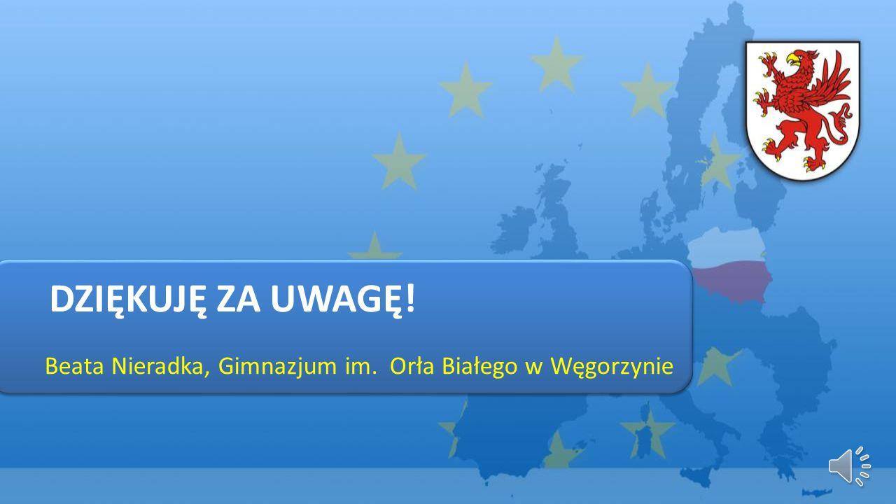 DZIĘKUJĘ ZA UWAGĘ! Beata Nieradka, Gimnazjum im. Orła Białego w Węgorzynie