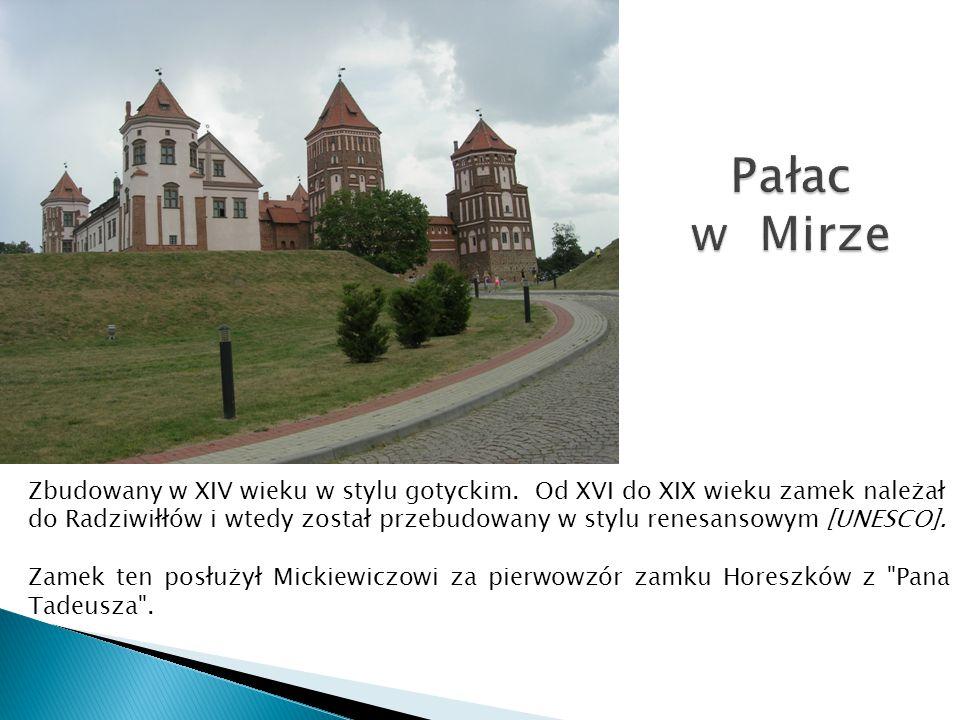 Zbudowany w XIV wieku w stylu gotyckim. Od XVI do XIX wieku zamek należał do Radziwiłłów i wtedy został przebudowany w stylu renesansowym [UNESCO]. Za