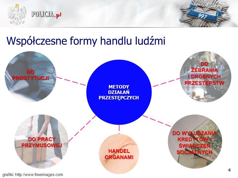 Polska jako kraj: przeznaczenia dla ofiar HL pochodzących z: Ukrainy, Bułgarii, Rumunii, Białorusi, Mołdawii, Litwy, Rosji, Wietnamu, Chin, Bangladeszu, Tajlandii.