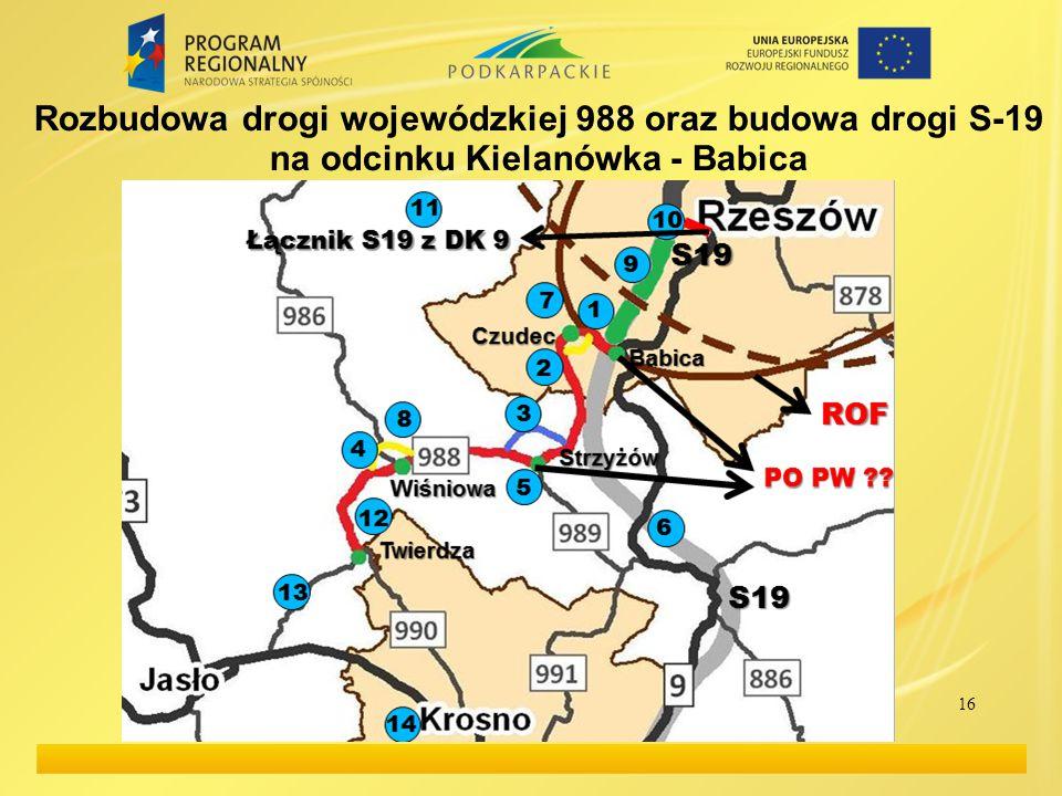 Rozbudowa drogi wojewódzkiej 988 oraz budowa drogi S-19 na odcinku Kielanówka - Babica 16